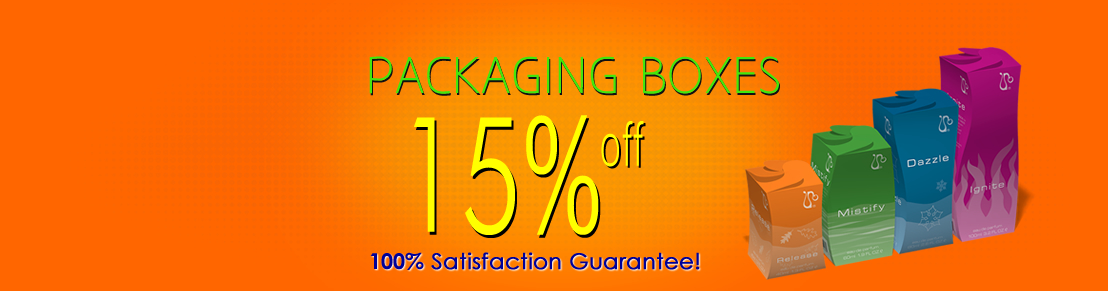 15% Discount on Packaging Box Printing