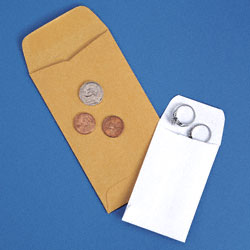 Coin Envelopes  and   International Envelopes Sizes